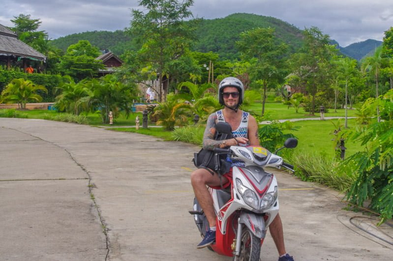 Scooter Riding Pai, Thailand
