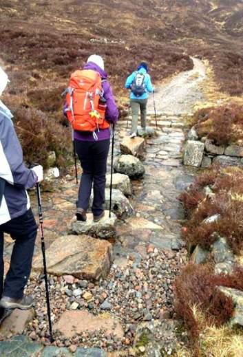 Devils Staircase Kinlockleven Scotland West Highland Way