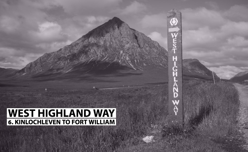 Kinlochleven to Fort William WHW sign