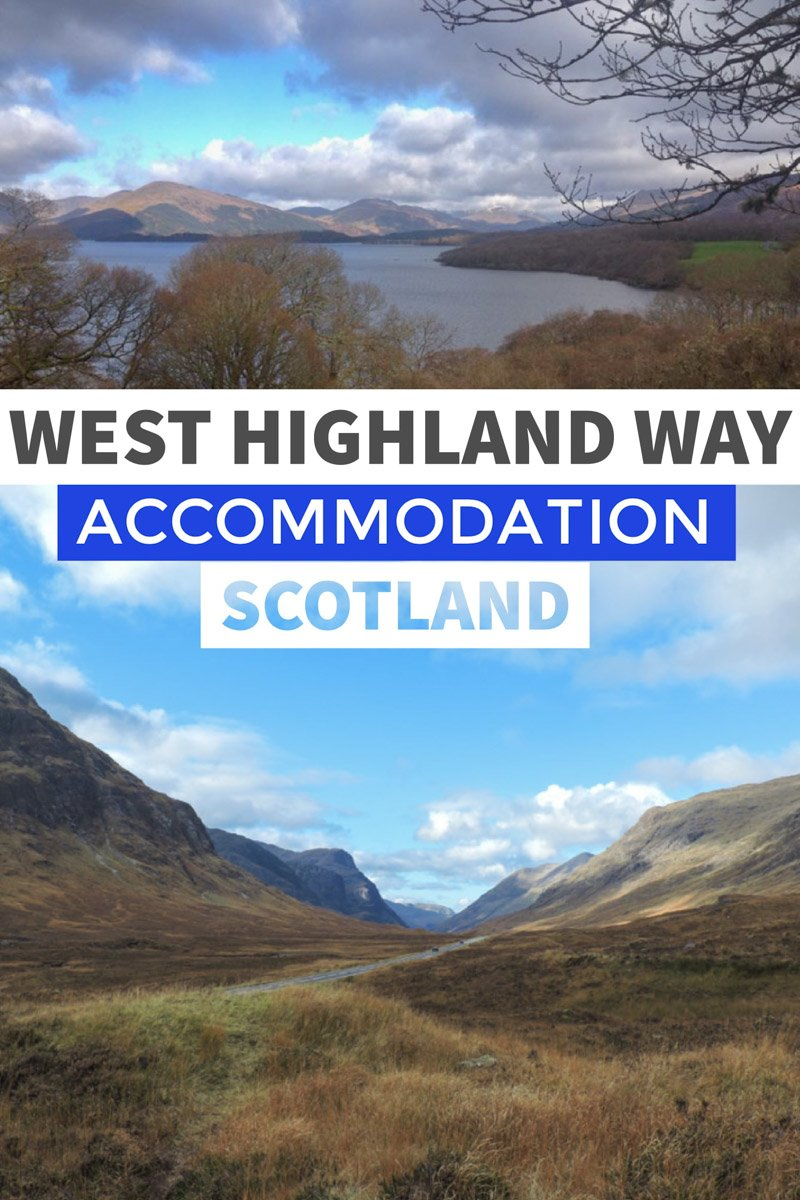 West Highland Way Accommodation list Scotland