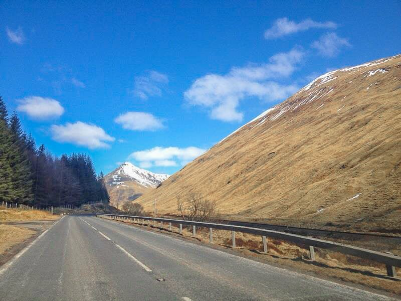 Glencoe with snow