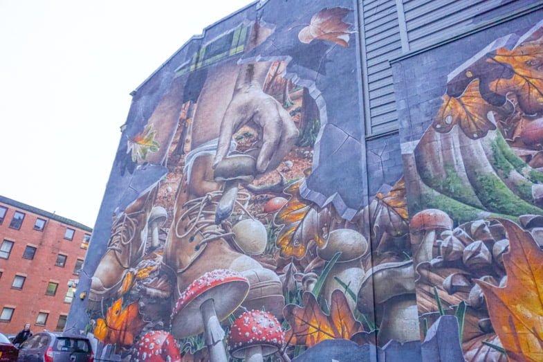 Street art murals Glasgow