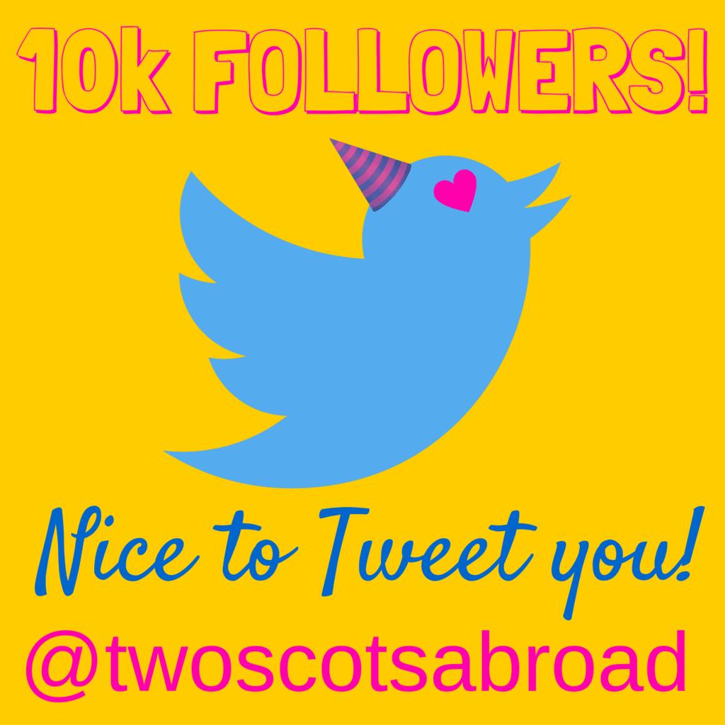 10K FOLLOWERS on Twitter!