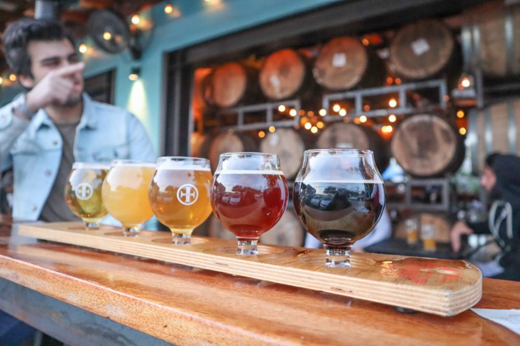 Beer Flight Lazarus Austin Craft Beer Brewery_