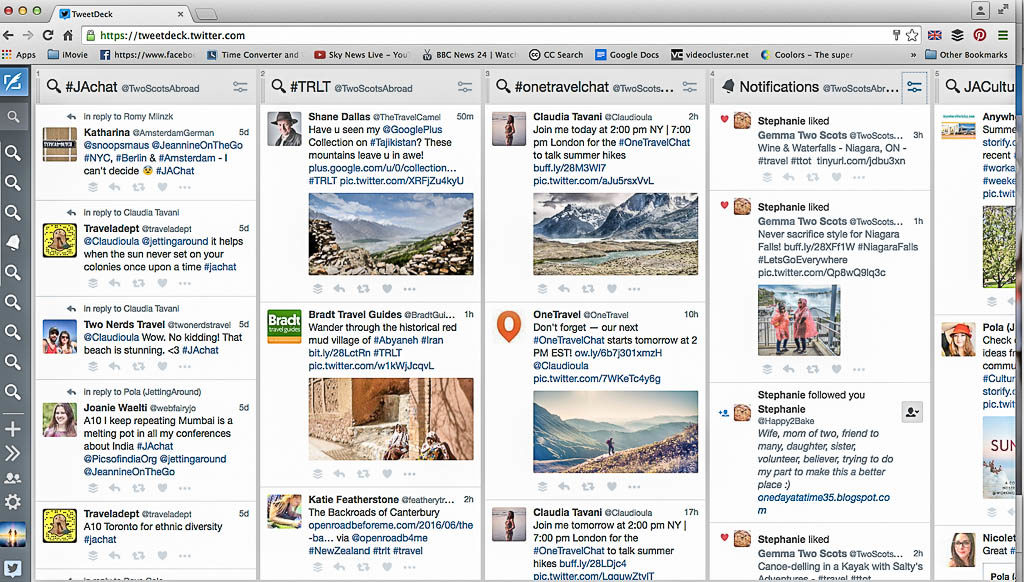 Tweetdeck I Twitter For Travel Bloggers