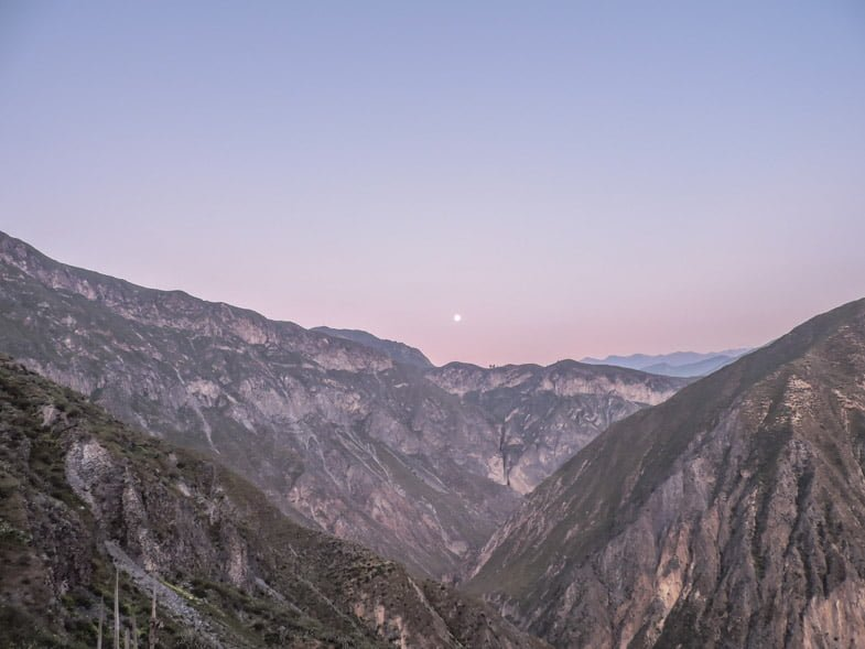 Colca Canyon sunrise