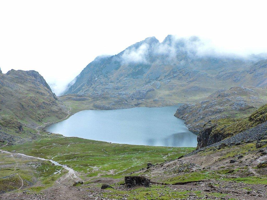 The Lares Trek to Machu Picchu Alpaca Expeditions Condor's Pass Lake
