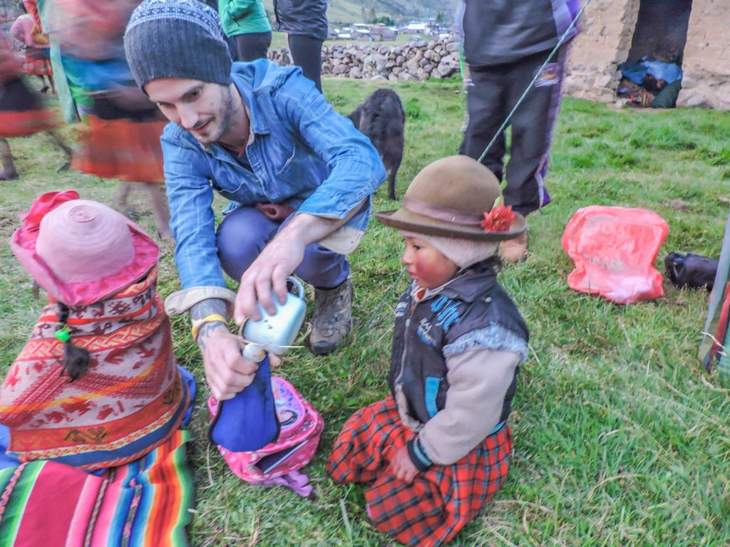 The Lares Trek to Machu Picchu Alpaca Expeditions Village Children