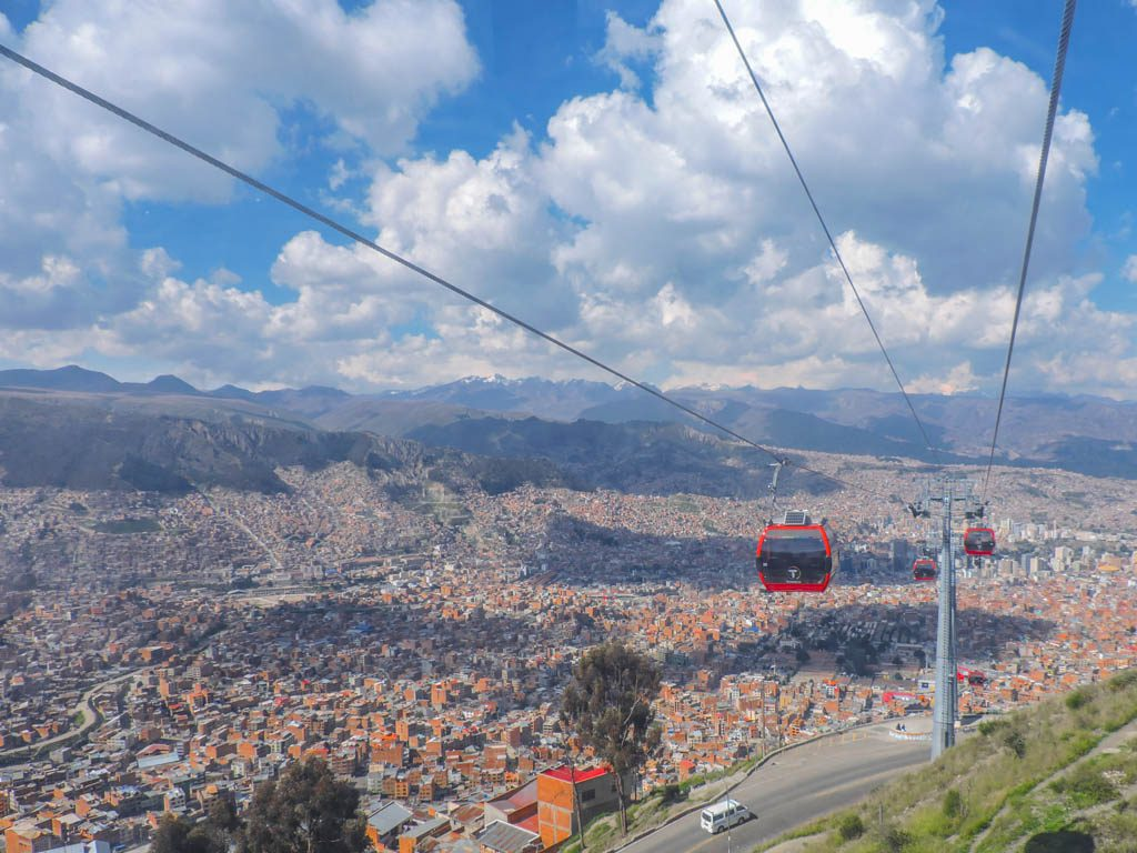Cable Cars in La Paz I 10 Things to do in La Paz