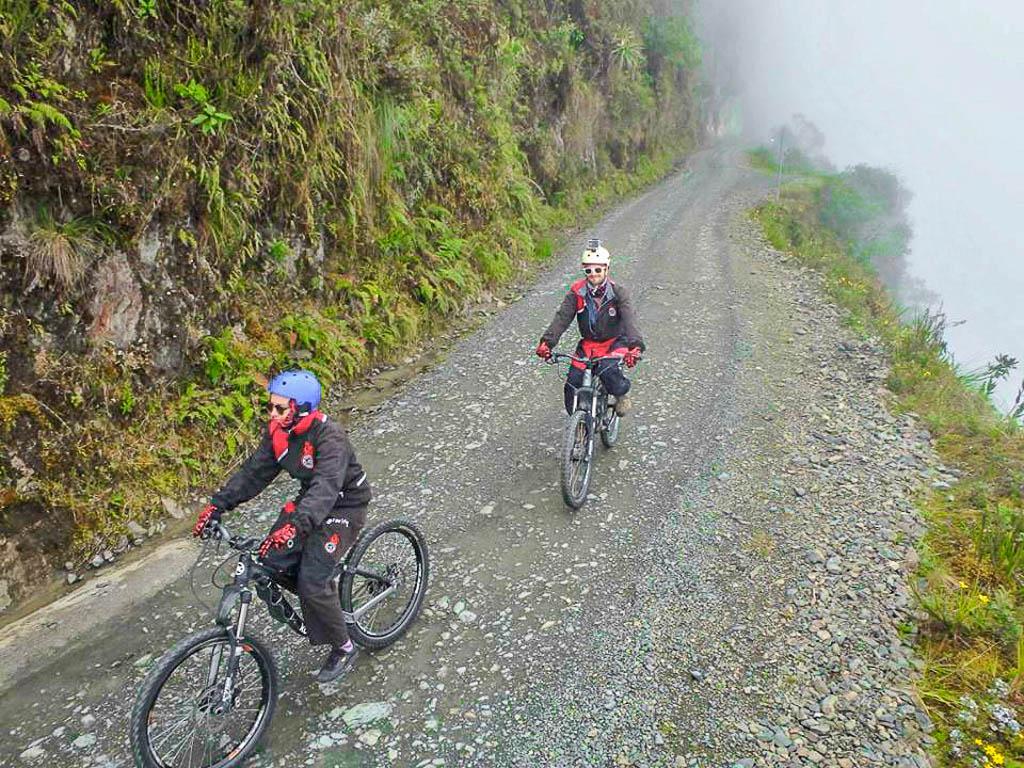 Biking Death Road in Bolivia La Paz
