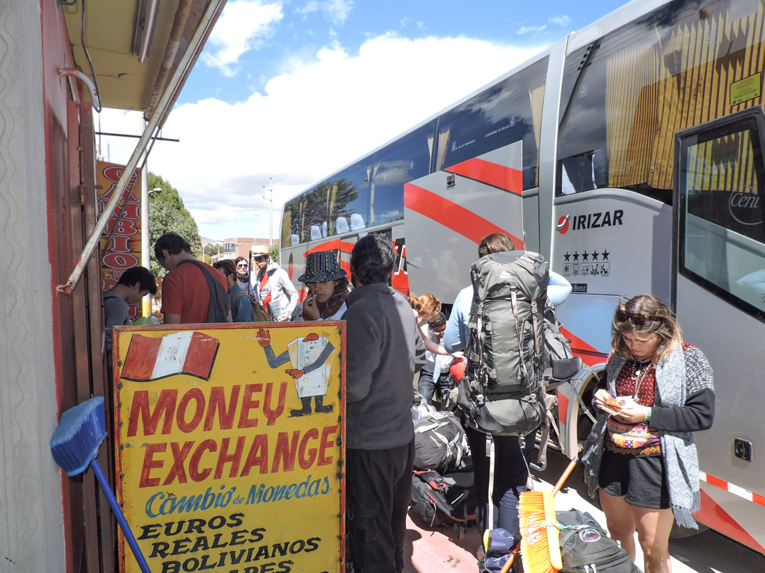 Peru Bolivia Border Money Exchange