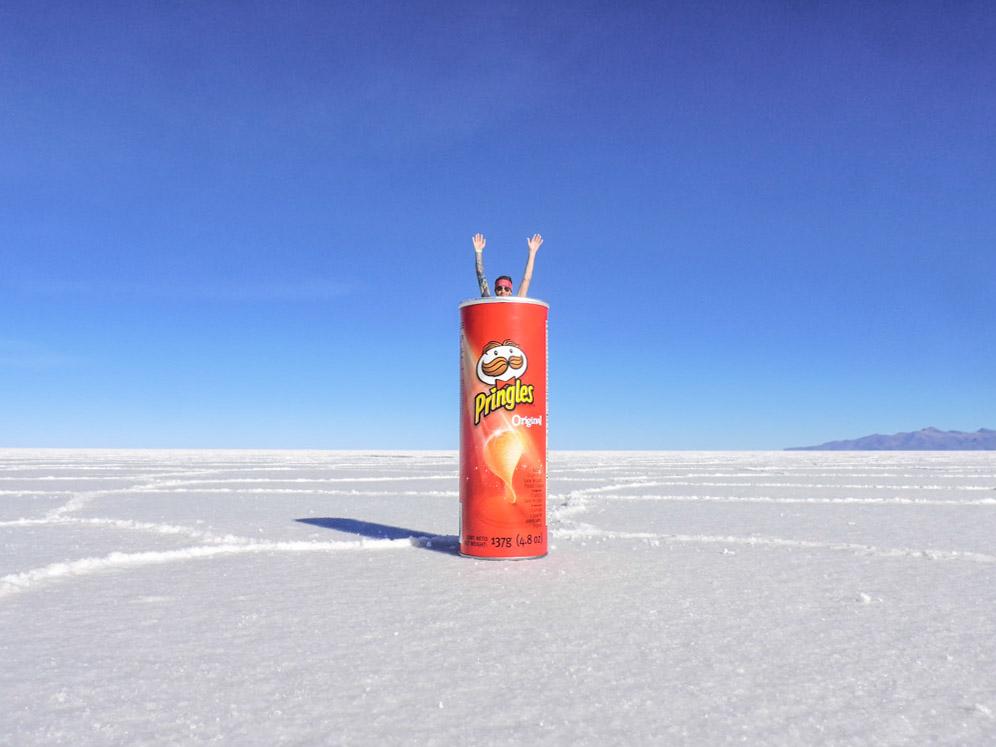 Pringles Craig Salt Flats in Bolivia