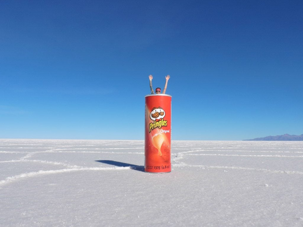 Pringles Salar de Uyuni, Salt Flats Bolivia