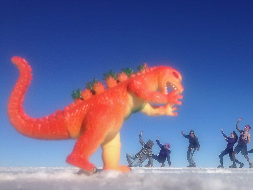 Salar de Uyuni, Salt Flats, Dinosaur
