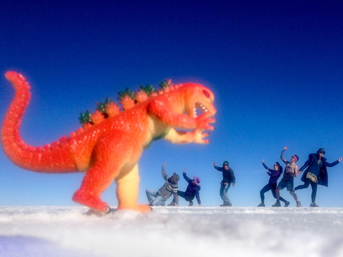 Salay de Uyuni Salt Flats Silly Pictures Dinosaur Bolivia_