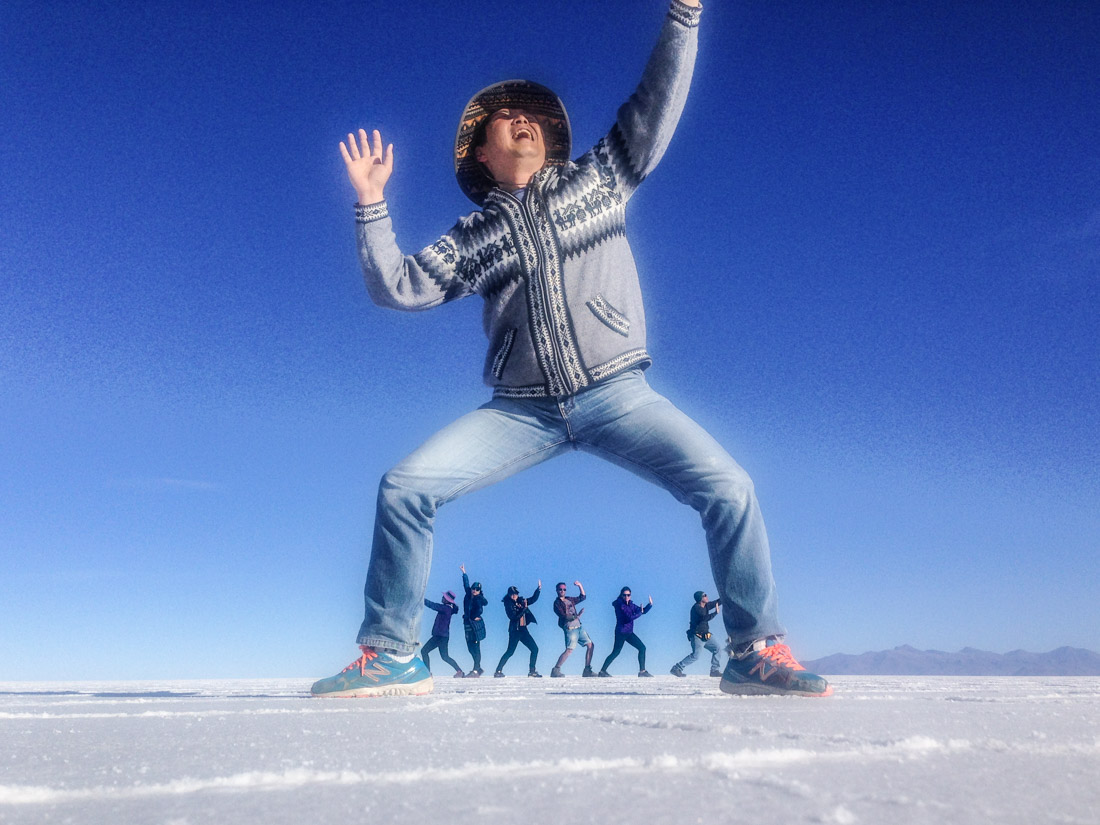 Salay de Uyuni Salt Flats Silly Pictures Giant Bolivia_