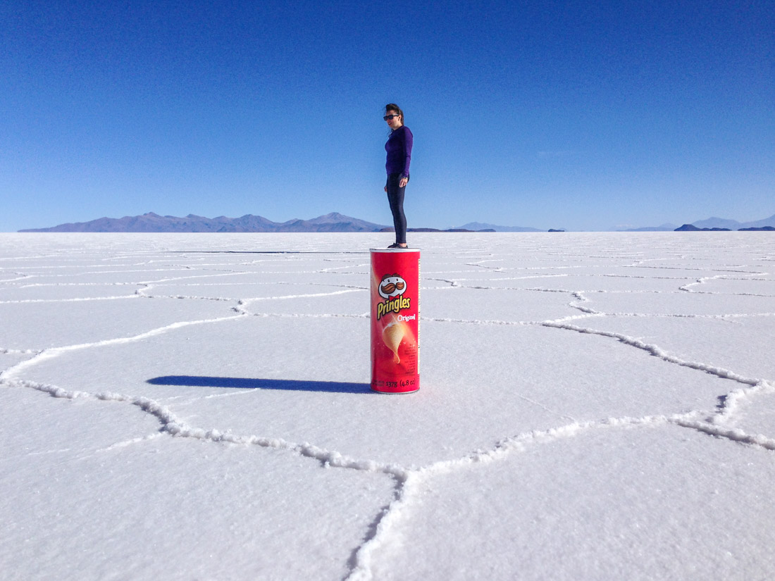 Salar de Uyuni Salt Flats Silly Pictures Tub of Pringles Bolivia_