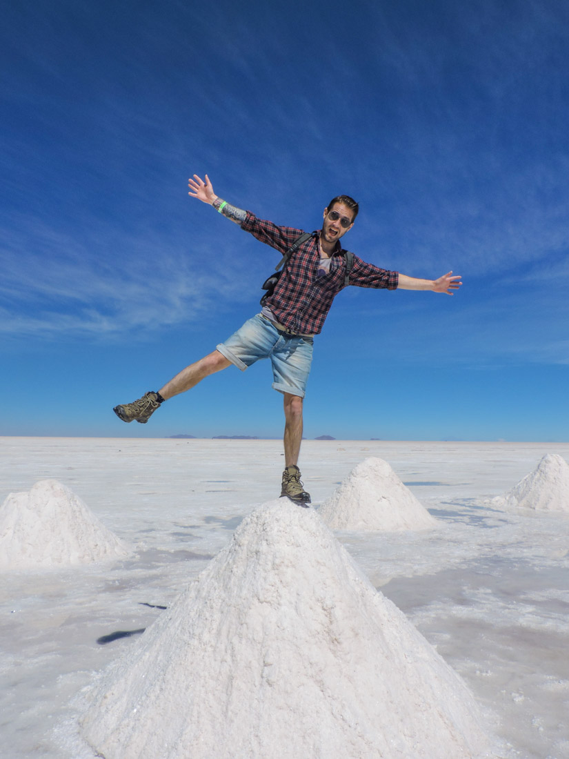 Uyuni Salt Flats Salt Mountains Bolivia_