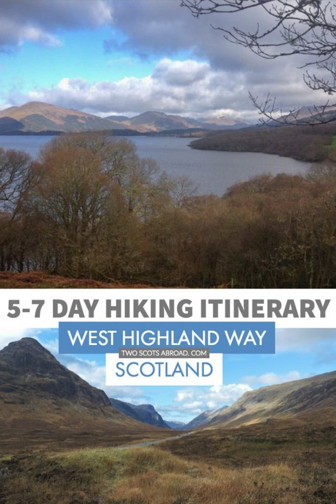 West Highland Way Scotland hike itinerary