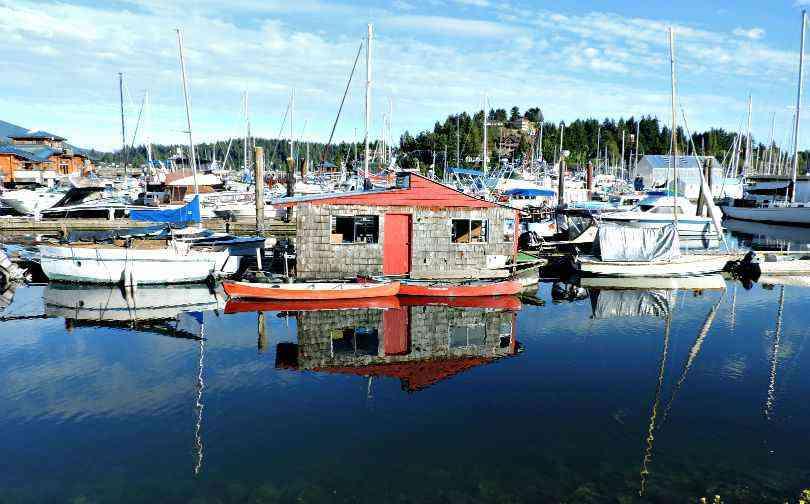 Boat House Reflection Sunshine Coast BC Gibsons