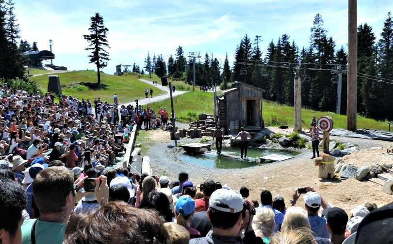 Lumberjack Show Grouse Mountain Vancouver Tips