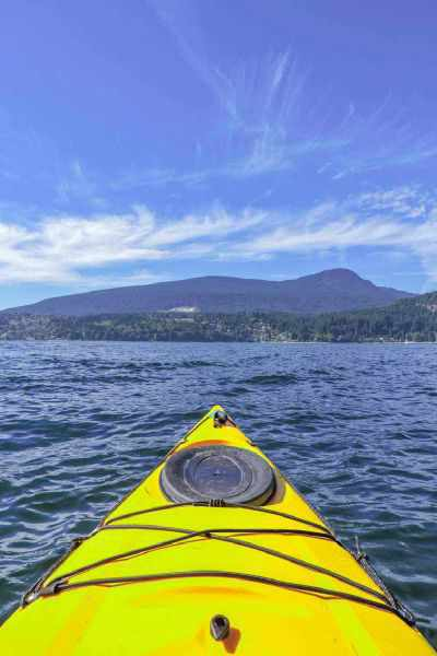 Kayaking Gibsons BC Sunset Slow Travel Pin
