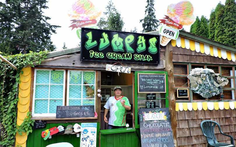Lumpy's Ice Cream Shak Roberts Creek