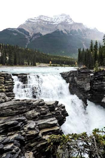 Athabasca Falls Canada Rockies Lakes