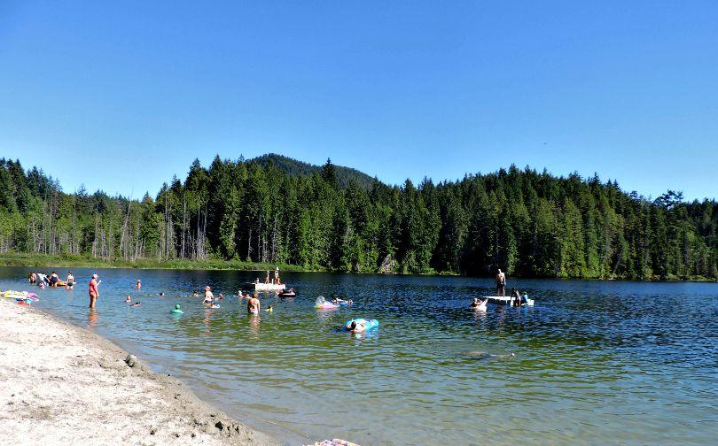 Katherine Lake Garden Bay Sunshine Coast BC Canada
