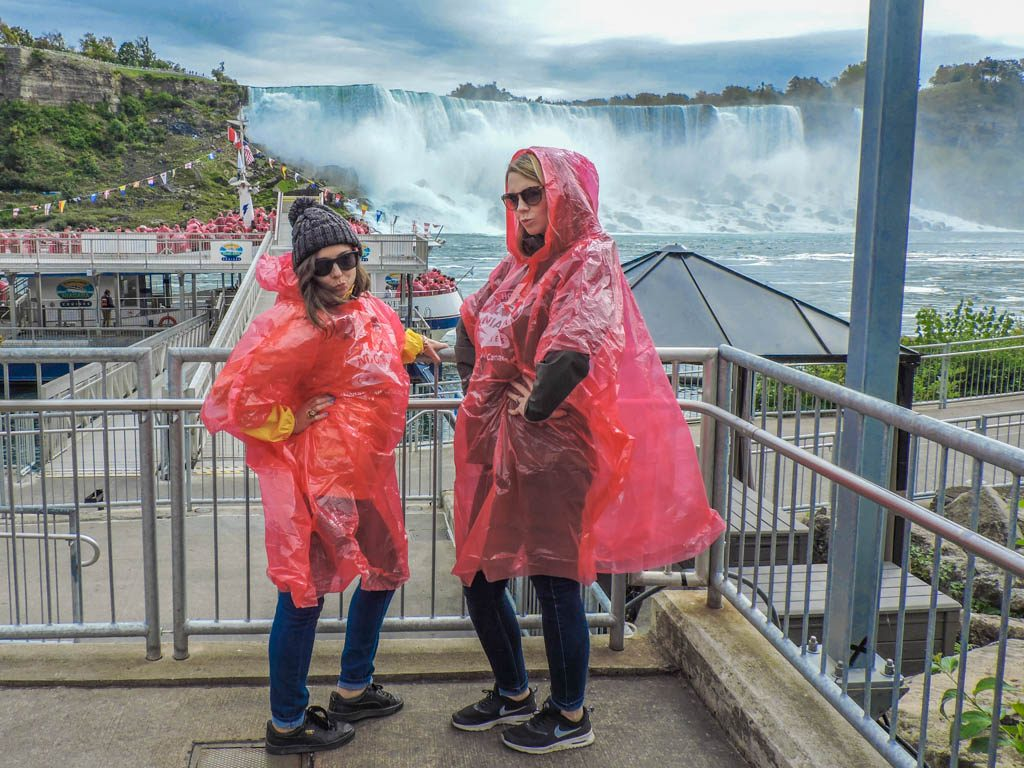Niagara Falls, Ontario ponchos boat cruise