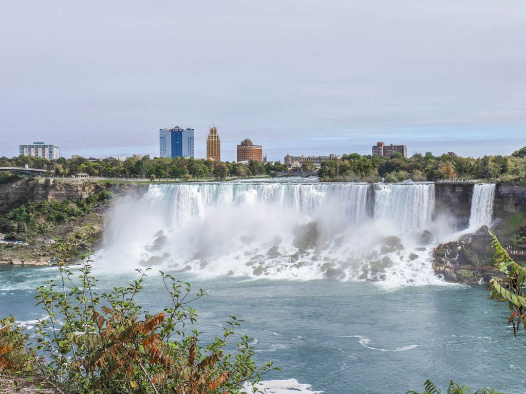 The American Falls and The Bridal Veil Falls I Wine and Waterfalls I Niagara Falls, Ontario