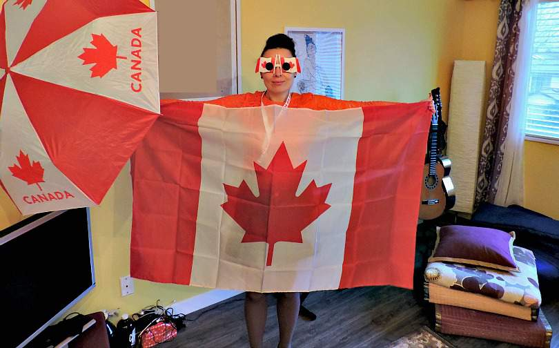 North America Travel Budget Canadian Flag