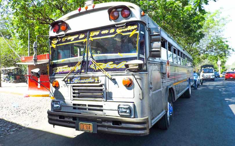 Americas Budget 11 Transport Chicken Bus Nicaragua