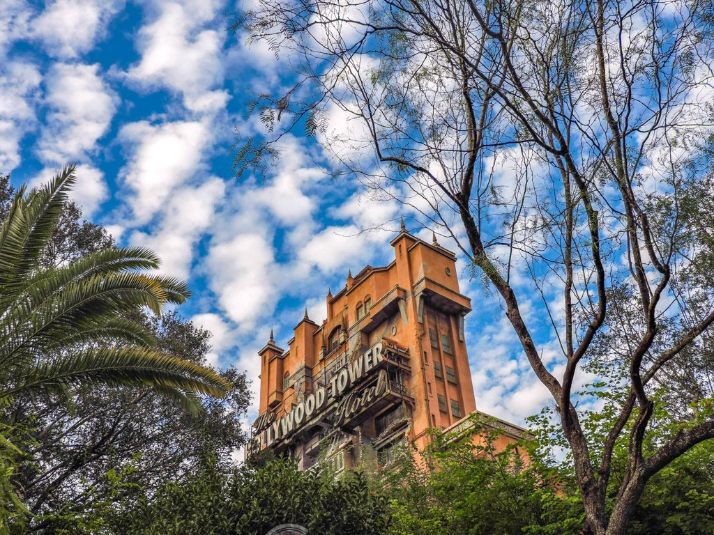 Hollywood Tower Disneyworld Florida Blue Skies