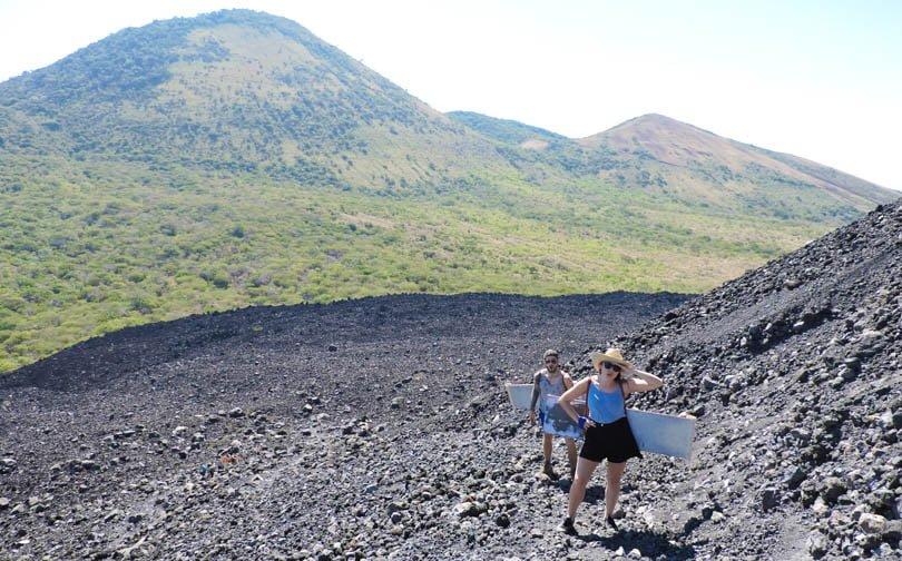 Cerro Negro, Leon Nicaragua, Volcano Boarding, Hike