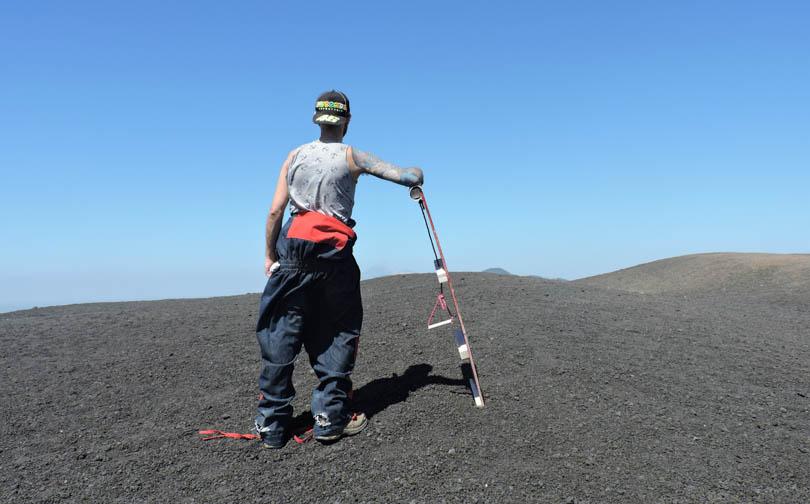 Volcano Board, Leon, Equipment Cerro Negro, Nicaragua