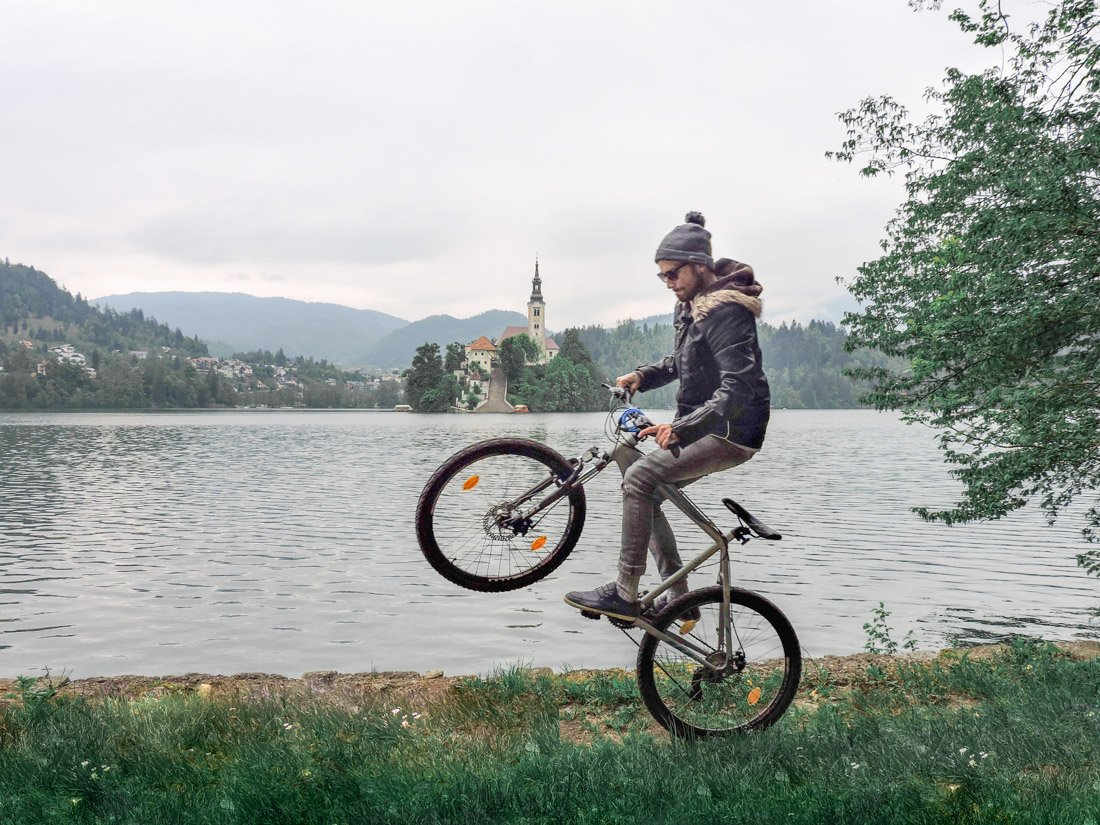 Cycling in Bled Slovenia