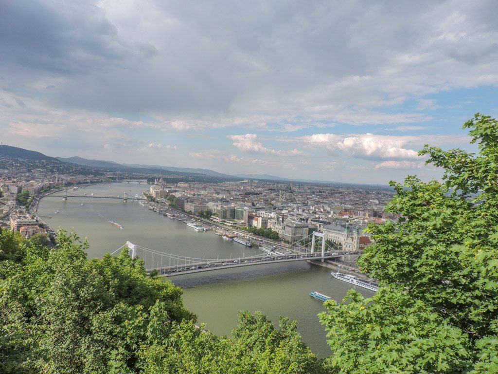 Budapest From Libtery Statue I Budapest to Ljubljana