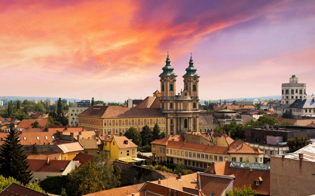 Eger Hungary Castle Sunset City_