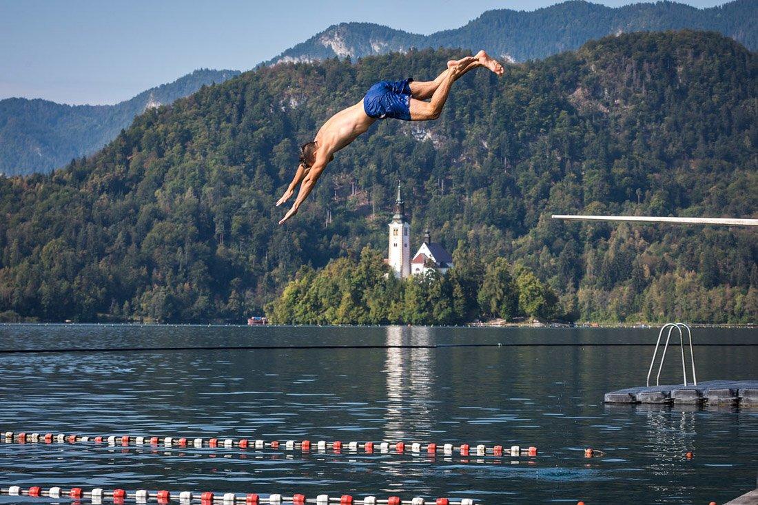 Grajsko kopalisce Lake Bled Swimming