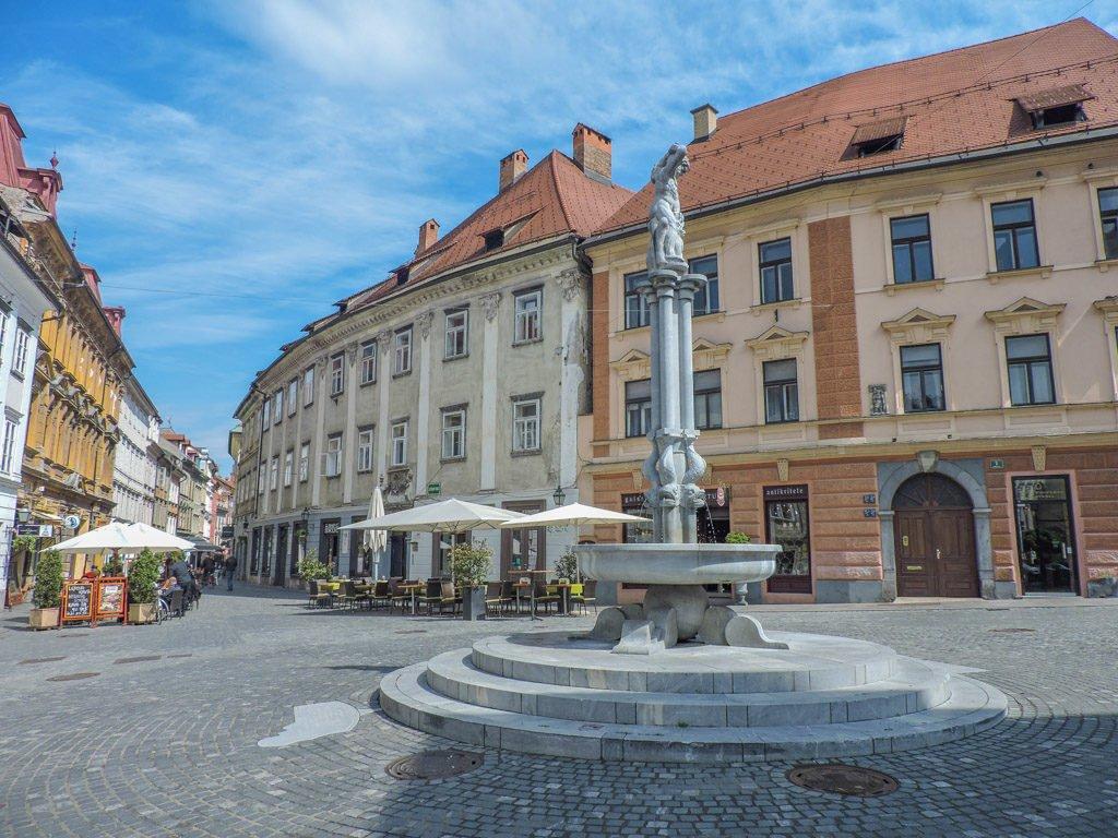Hercules Fountain I Ljubljana Slovenia, Balkans