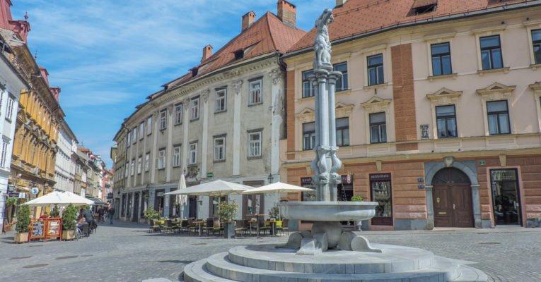 Hercules Foutain I Ljubljana Slovenia, Balkans