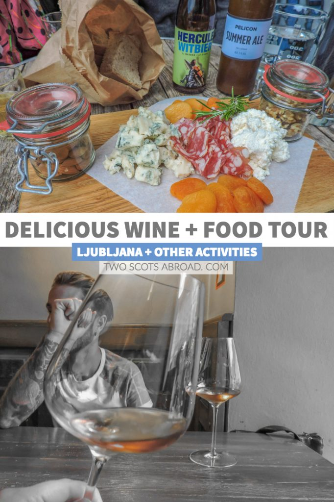 Ljubljana food and wine tour is just one of the many things to do in Ljubljana. Click the pin to read about the castle and day trips to Lake Bled.