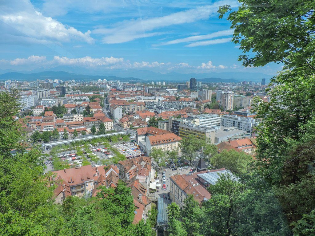 Views from Castle Funicular I Things to do in Ljubljana
