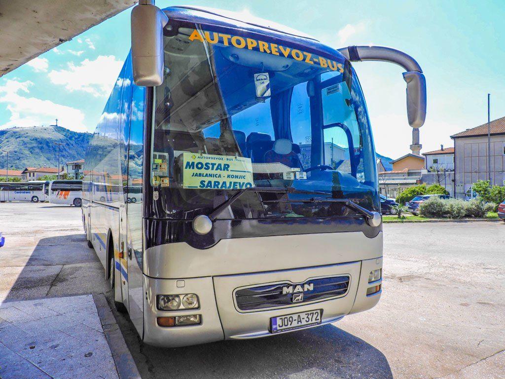 Mostar to Sarajevo Bus I Bosnia and Herzegovina_