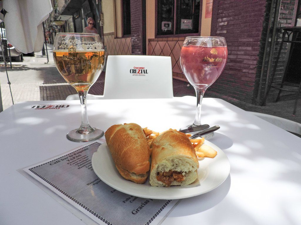 Tapas with Drinks I Granada Spain I 10 Things to do in Granada on a Budget