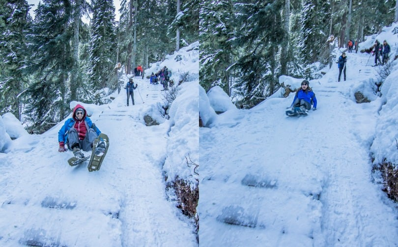 Snow Shoeing at Joffre Lake I Long Term Travel Planning