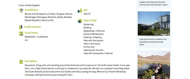Workaway Profile   Workaway, Help X and Volunteers Base