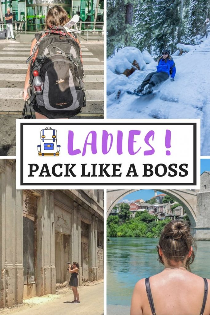 Pack for success with this female travel packing list. What to pack from backpacks to bras and beauty. Catering for sun, snow, and long-term trips. (1)