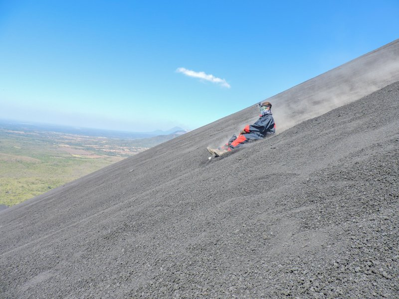 Volcano Boarding Leon | Backpacking in Nicaragua